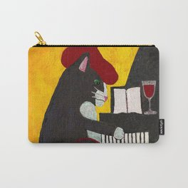 Tuxedo Cat Playing a Piano Carry-All Pouch