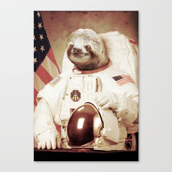 Sloth Astronaut Canvas Print