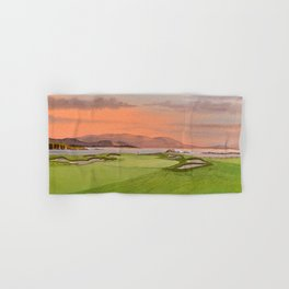 Pebble Beach Golf Course Hole 17 Hand & Bath Towel