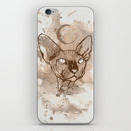 Watercolor Sphynx (Sepia/Coffee stain) iPhone Skin