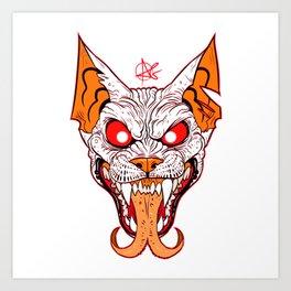 Demon Sphynx Cat2 Art Print
