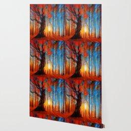 Forrest And Light Large Wallpaper