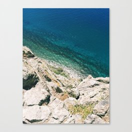 Looking Down on Lake Tahoe from Cave Rock Canvas Print