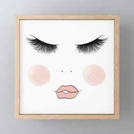 Lashes And Lips Framed Mini Art Print
