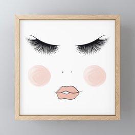 Lashes And Lips Framed Mini Art Print