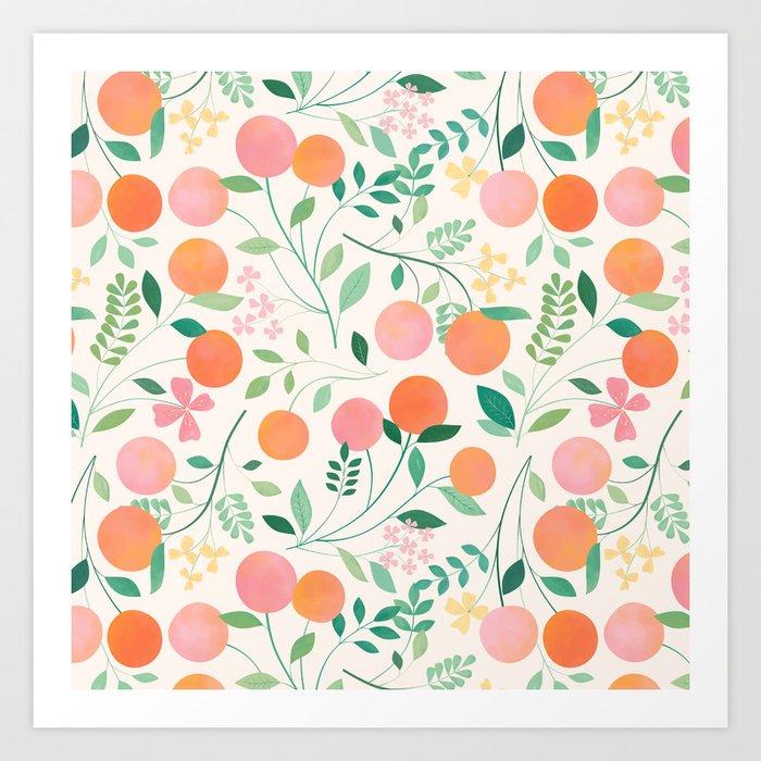 Vanilla Peaches Kunstdrucke