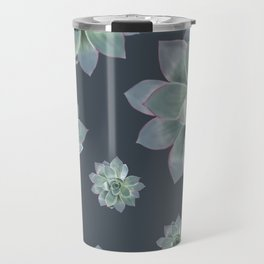 Succulent - navy background Travel Mug