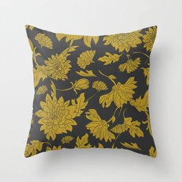 Hand drawn automnal flowers Throw Pillow