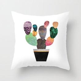 Pretty Cactus Throw Pillow