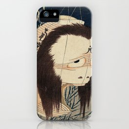 Katsushika Hokusai - The Lantern Ghost, Iwa (1832) iPhone Case