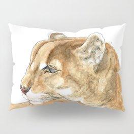 Sunbathing American Mountain Lion Pillow Sham