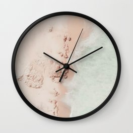 beach - pink champagne Wall Clock
