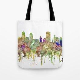 Buffalo, New York Skyline SG - Faded Glory Tote Bag
