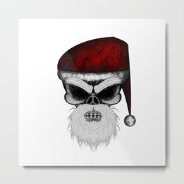 Santa ErrorFace Skull Metal Print