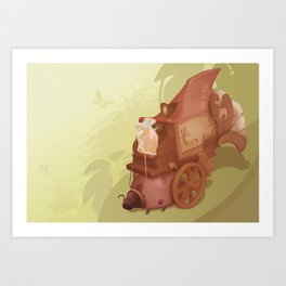 The Shadow Puppeteer   Art Print