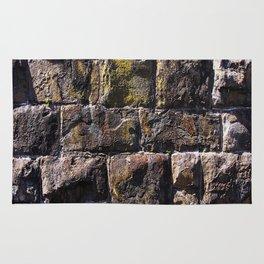 Moss on Stone Wall rustic decor Rug