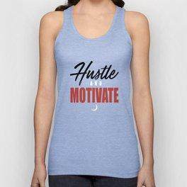 WYD Hustle _ Motivate Tee Grey Black Red NIPSEY HUSSLE VICTORY LAP hustle Unisex Tank Top