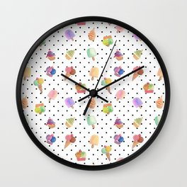 Best time for icecream is always illustration Wall Clock