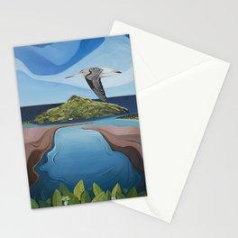 Godwit over Paku Stationery Cards