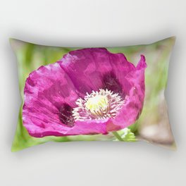 Purple Poppy by Reay of Light Photography Rectangular Pillow