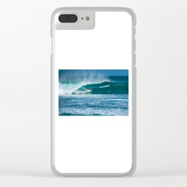 Surfing Hawaii Clear iPhone Case