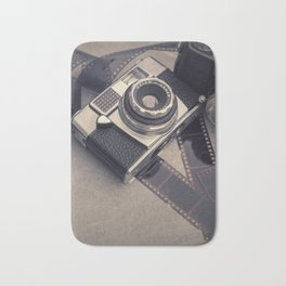 Vintage Camera and Film III Bath Mat