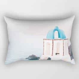 Santorini Greece Mamma Mia blue-white travel photography in hd. Rectangular Pillow