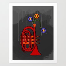Happy to see my pocket trumpet Art Print