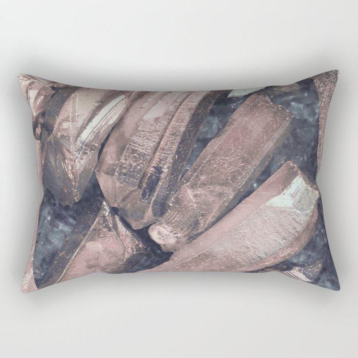Pink Crystals Rectangular Pillow