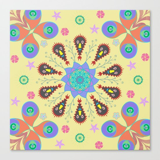 Monster Mandala Canvas Print