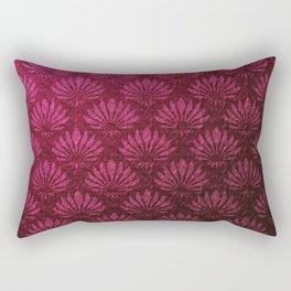 Deep red art nouveau pattern, fan pattern, vintage,art deco, victorian,belle epoque,purple,elegant,chic,modern,beautiful,feminine,asian,art nouveau,red,metallic Rectangular Pillow