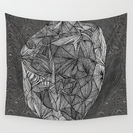 Visage television Wall Tapestry