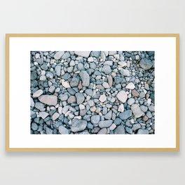 Rocks in Santorini Framed Art Print