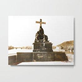 The Cross at Charles Bridge Metal Print