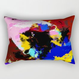 Hisaae - Abstract Colorful Batik Camouflage Tie-Dye Style Pattern Rectangular Pillow