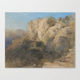 Rocky Landscape in Wales by Samuel Palmer, 1835 or 1836 Canvas Print