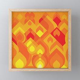 Geometric fire pattern Framed Mini Art Print