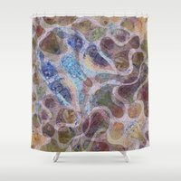desert Shower Curtains featuring Desert by Bunyip Designs