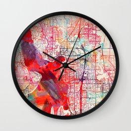 Kirkland map Washington WA Wall Clock