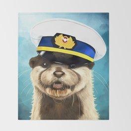 Captain Otter Throw Blanket