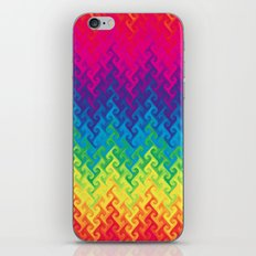 neon rainbow flame chevron iPhone & iPod Skin