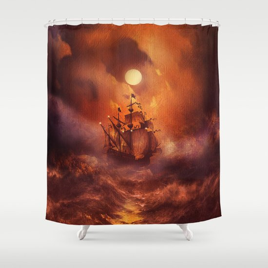 Perfect storm. Shower Curtain