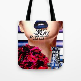 Care Too Much Tote Bag