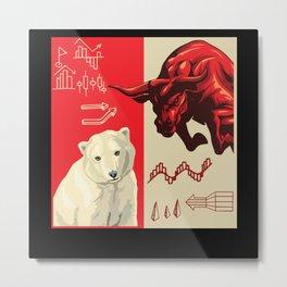 Bull or bear market Metal Print