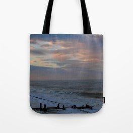 Sunset on Cart Gap beach Tote Bag