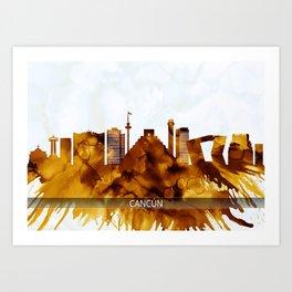 Cancun Mexico Skyline Art Print