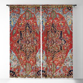 Heriz  Antique Persian Rug Print Blackout Curtain