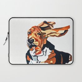 Basset Hound Flying Ears Portrait Laptop Sleeve