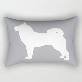Akita silhouette dog breed pattern minimal dog art grey and white akitas Rectangular Pillow