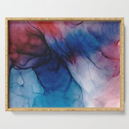 Caterpillars - Flowing Abstract Painting Serving Tray